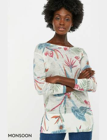 c8c3894ee77eb3 Ladies Natural Octavia Print Linen Blend Jumper from Next