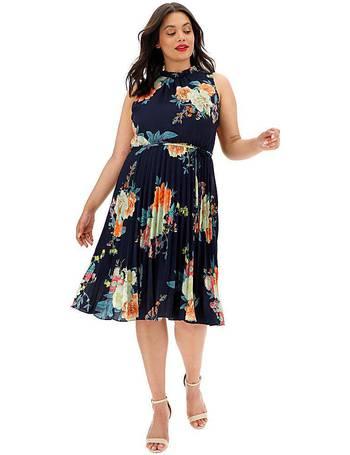 discount sale purchase cheap fashion design Botanical Chiffon Midi Dress