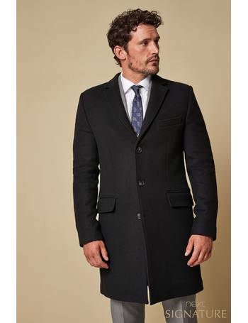 9822dfc69a1f Black Nova Fides Signature Epsom Coat from Next