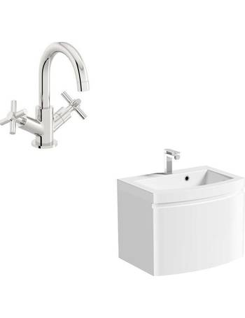 Mode Bathroom Sinks Dealdoodle, Mode Austin White Wall Hung Vanity Unit And Basin 600mm