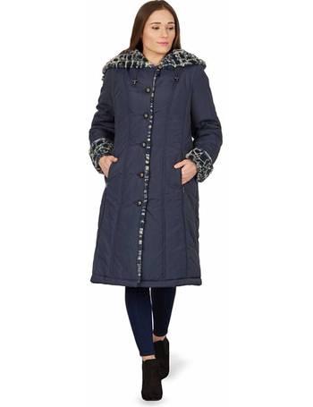 be01985e9 Ladies Faux Fur Trimmed Raincoat from Roman originals