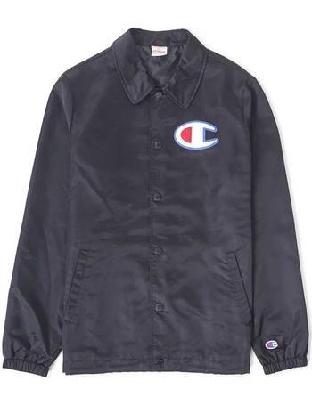 the latest 989e5 bdf1b Champion. Coach Jacket Large Logo Black. from The Idle Man