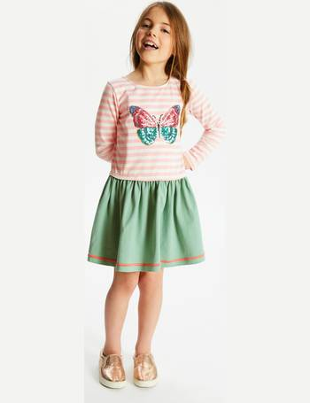 6c3924e73 John Lewis & Partner Girls' Butterfly Sequin Dress from John Lewis