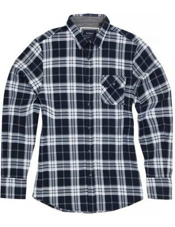 RW4890 Brave Soul Mens Simon Long Length Contrast Tartan Check T-Shirt