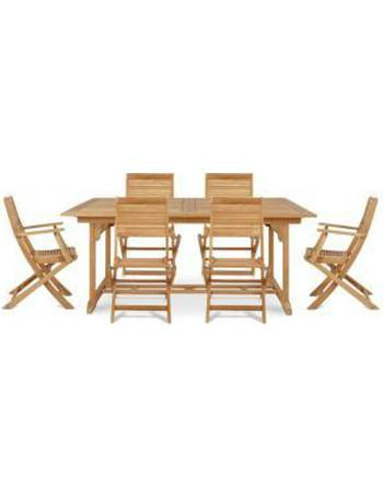 Roscana Wooden 6 Seater Dining Set