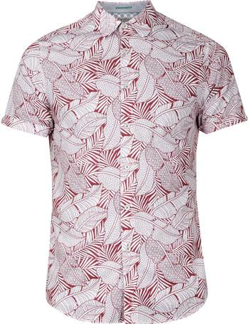 8c1711002adf52 Men s Ted Baker Whittle Leaf Print Cotton Shirt from House Of Fraser