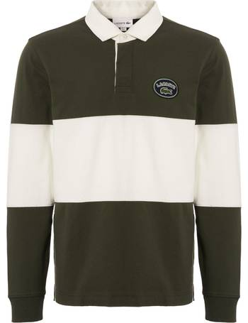 700760b3c Lacoste. Colourblock Long Sleeve Rugby Shirt. from Stuarts London