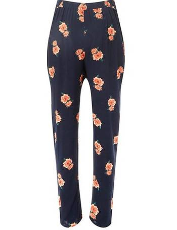 aee41f191a Womens Maternity Navy Floral Woven Joggers- Blue from Dorothy Perkins
