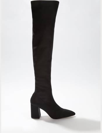 8254b73ad4e Womens Black Oana Over The Knee Boots