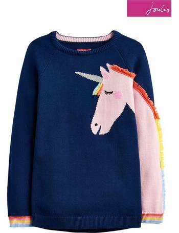 4402aa7741f Blue Gee Gee Girls Novelty Knitted Jumper from Next