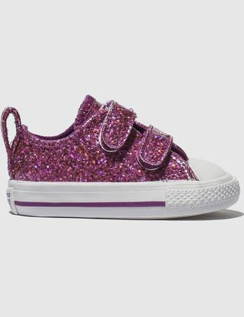 4604d31232fc Converse. Purple All Star Ox 2v Glitter Trainers Toddler. from Schuh