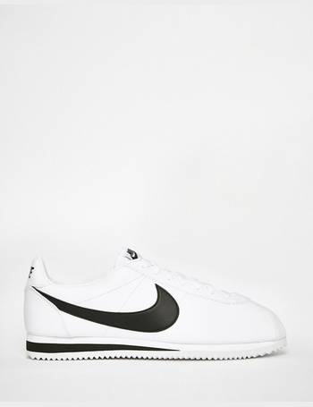 watch 7fed8 b7d1e Cortez Leather Trainers In White 749571-100 from ASOS