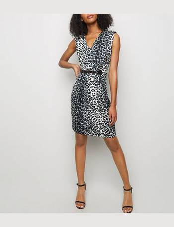 e6d9f3ad Mela. Black Leopard Print Belted Mini Dress New Look. from New Look.  £28.00. Gold Sequin Flower ...