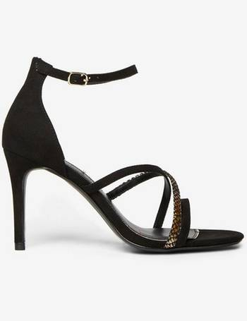 ce3c21f6d2d6 Womens Black Microfibre Bambi Strappy Heeled Sandals- Black from Dorothy  Perkins