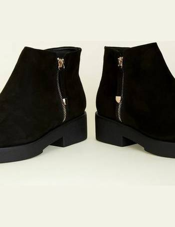 61091a9126a5 Wide Fit Black Chunky Ankle Boots New Look from New Look