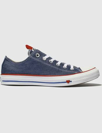 866296606334 Blue All Star Love Works Ox Trainers from Schuh