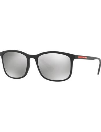 efd67ef68e2bc Prada Linea Rossa. Ps 01ts 56 Black Rectangle Sunglasses