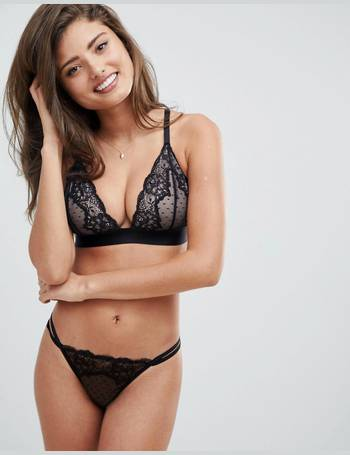 516f197d78280 ASOS DESIGN. ASOS FULLER BUST Lizzie Dobby   Lace Triangle Bra