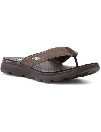 3ef8cf40f Skechers. On The Go Mens Brown Flip Flop Sandal