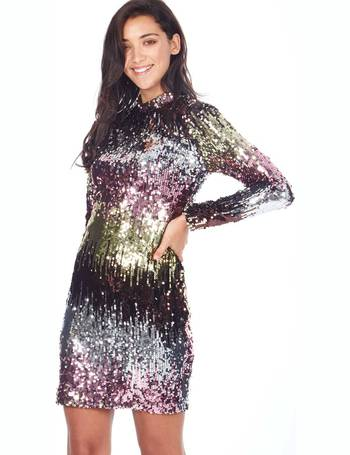 db645574 MILEY - High Neck Ombre Multi Sequin Dress from Blue Vanilla