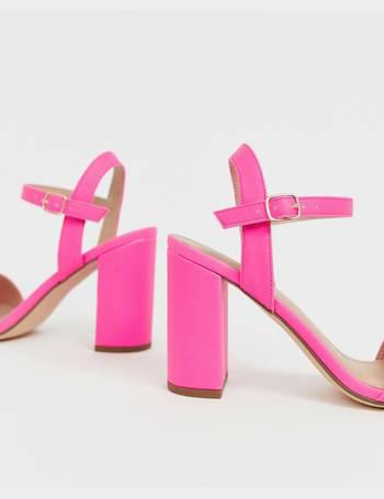 7d0998dc693 block heel sandal in neon pink