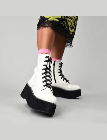 fbaf90c4654 ARKON Mega Platform Patent Boots from KOI Footwear