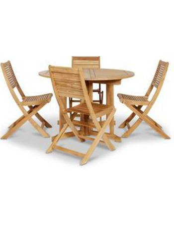 Roscana Wooden 4 Seater Dining Set