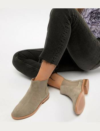 97222315d04 Wide Fit Aura suede chelsea ankle boots