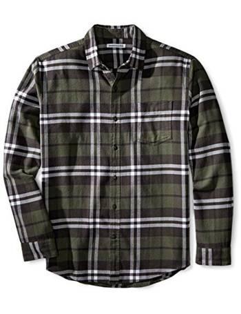 Essentials Mens Regular-fit Short-Sleeve Plaid Shirt