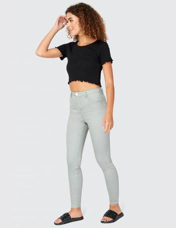 8e2b144a1ae94 Grey Georgia Super High Waist Jegging from Select Fashion