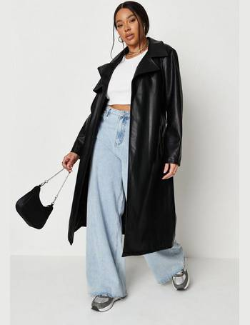 Missguided Women S Leather Trench Coats, Womens Faux Leather Trench Coat Uk