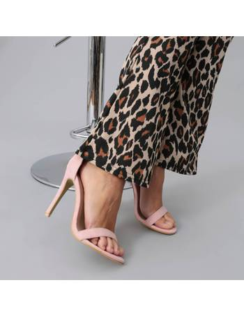 f71a853a507 Light Pink Suede Stiletto Heels with Wide Ankle Strap from KOI Footwear