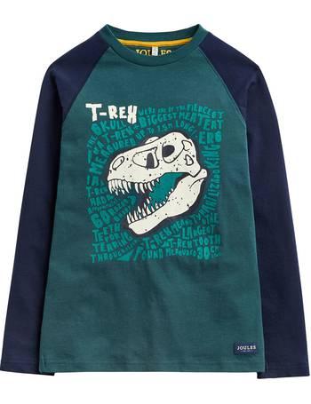 67de4e60 Little Joule Boys' Reeve Glow In The Dark Dinosaur Print T-Shirt from John