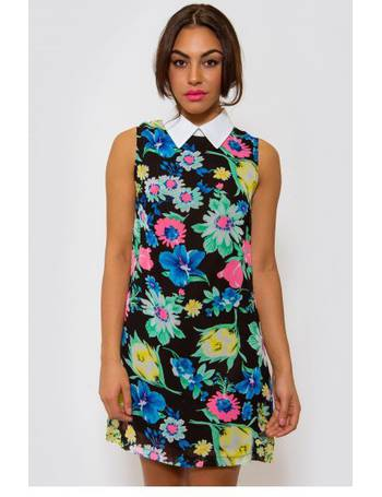 61534cb9088 Marianna Floral Sleeveless Shift Dress In Green from The Fashion Bible