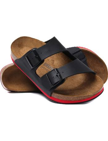 f021fe8e017d Birkenstock. Two Tone Arizona Sandal Tan. from The Idle Man. £64.00. Arizona  Black Red Stripe Leather Sandals from Woodhouse Clothing