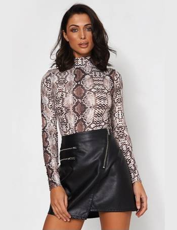 aeee7b8d8c Long Sleeve Snakeskin Bodysuit from The Fashion Bible