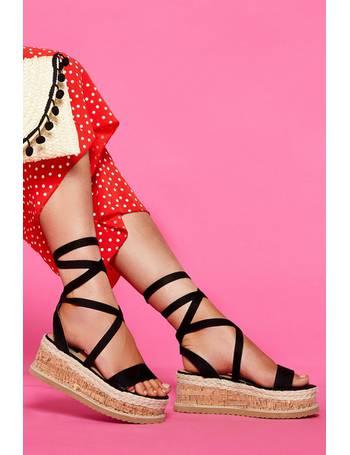 e87a20b6dc Black Flatform Sandals from Quiz Clothing