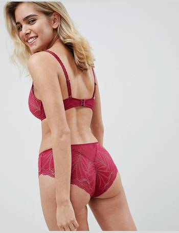 828568f9c2 Refined Glamour lace padded triangle bra in cherry from ASOS