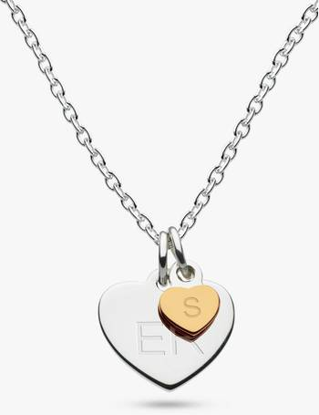 b46c03e7e Kit Heath. Personalised Girls Double Heart Pendant Necklace