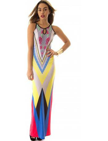 34f1eb82bc8 Aztec Print Multicoloured Maxi Dress from The Fashion Bible