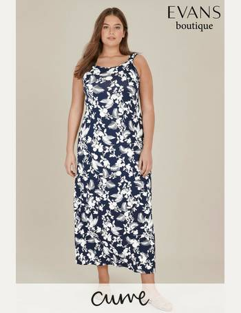 061756d933dc6 Evans. Curve Black Floral Border Print Swing Dress. from Next. £36.00. Curve  Navy Floral Print Maxi Dress from Next