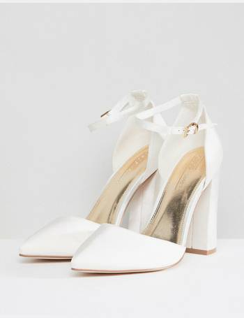 4ee3bf69b Pebble Wide Fit Bridal Pointed High Heels from ASOS