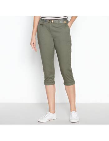 Maine New England Womens Navy Printed Cropped Trousers