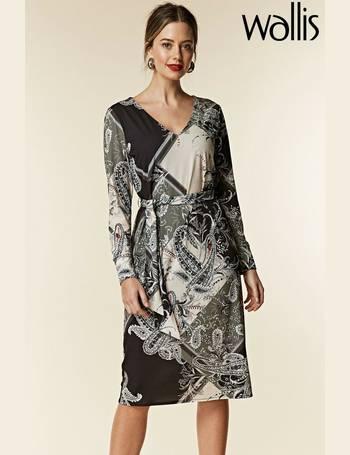 d200843b70e85 Petite Khaki Patchwork Paisley Midi Dress from Next