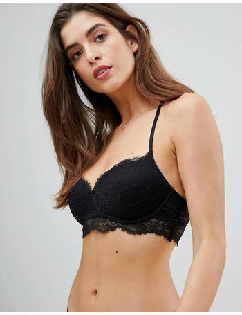 3b777c8a3f eyelash lace non wired push up bra from ASOS
