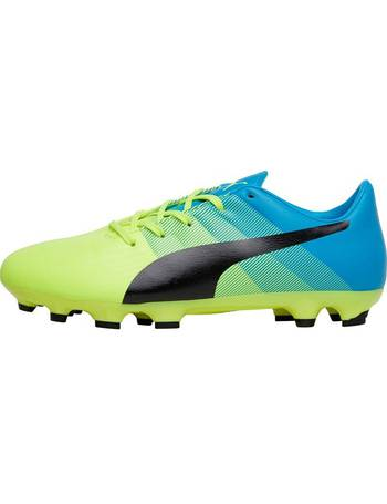 a9b2304b2 Puma. Junior evoPOWER 3.3 AG Football Boots Safety Yellow Black Atomic Blue