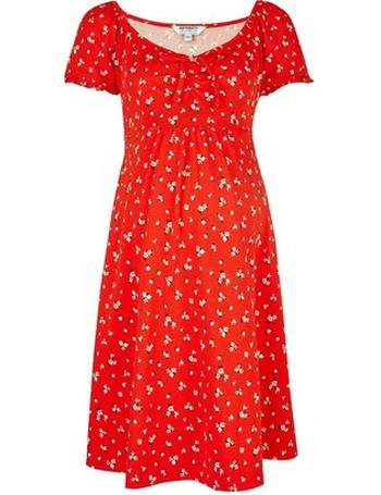 5d6bd0896bb0b Womens Maternity Red Floral Print Skater Dress- Red from Dorothy Perkins