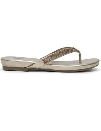 e6e83b504819 DF by Daniel. Glittie Toe Post Sandals. 4 Stores. £70.00. Lilow Diamante  Flip Flops from Fashion World