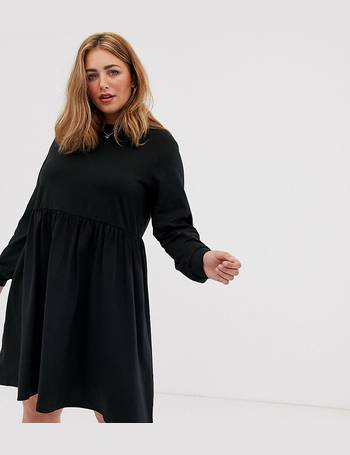 ASOS DESIGN Curve long sleeve cotton smock dress