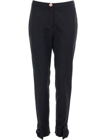 9a7e8a096 Toplyt Bow Cuff Ankle Grazer Trousers from Eqvvs